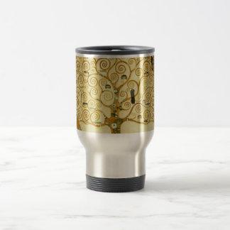 Gustav Klimt l'arbre de l'art vintage Nouveau de Mug De Voyage En Acier Inoxydable