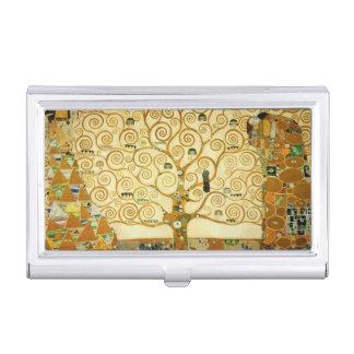 Gustav Klimt l'arbre de l'art vintage Nouveau de Porte-cartes De Visite