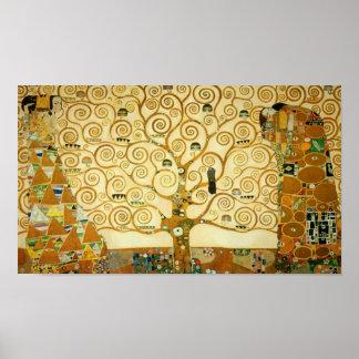 Gustav Klimt l'arbre de l'art vintage Nouveau de Posters