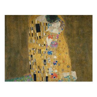 Gustav Klimt - le baiser Carte Postale