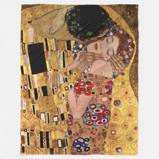 Gustav Klimt : Le baiser (détail)