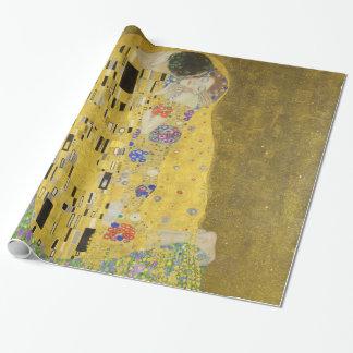 Gustav Klimt le baiser Papier Cadeau Noël