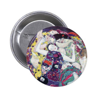 Gustav Klimt le bouton de Vierge Badges