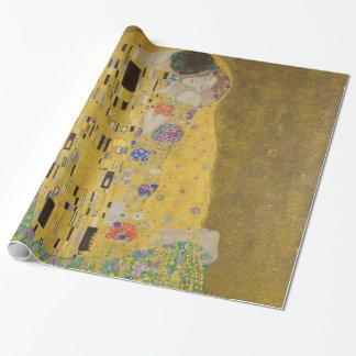 Gustav Klimt le cru de GalleryHD de baiser Papiers Cadeaux Noël