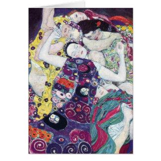 Gustav Klimt les cartes de voeux de Vierge