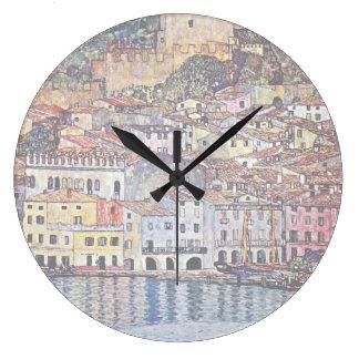 Gustav Klimt - Malcesine au policier Italie de lac Grande Horloge Ronde