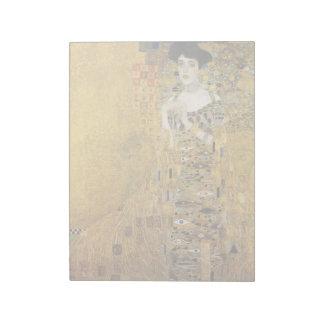 GUSTAV KLIMT - Portrait d'Adele Bloch-Bauer 1907 Bloc-note