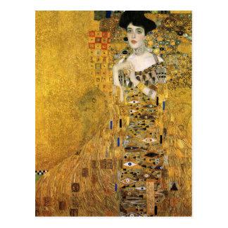GUSTAV KLIMT - Portrait d'Adele Bloch-Bauer 1907 Carte Postale