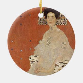 GUSTAV KLIMT - Portrait de Fritza Riedler 1906 Ornement Rond En Céramique