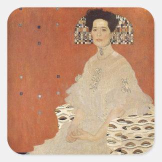 GUSTAV KLIMT - Portrait de Fritza Riedler 1906 Sticker Carré