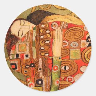 Gustav Klimt Sticker Rond