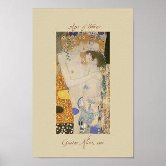 Gustav Klimt trois âges de femme détaillent l affi