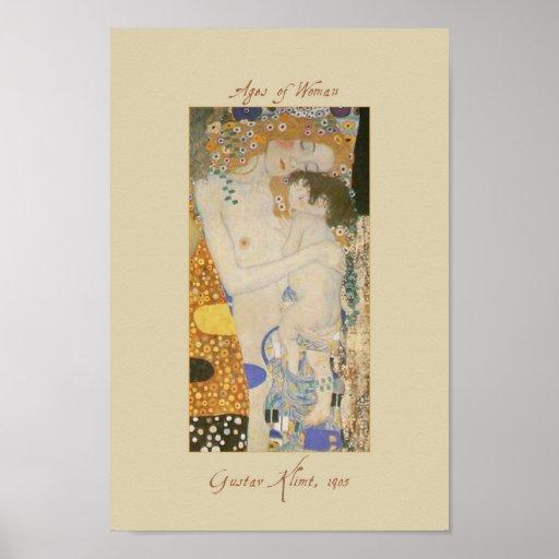 Gustav Klimt trois âges de femme détaillent l'affi Posters