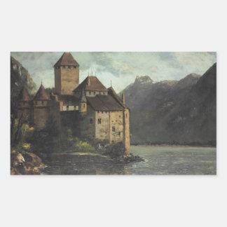 Gustave Courbet - château de Chillon Sticker Rectangulaire