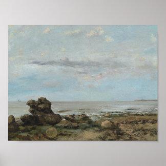 Gustave Courbet - la plage chez Trouville Posters