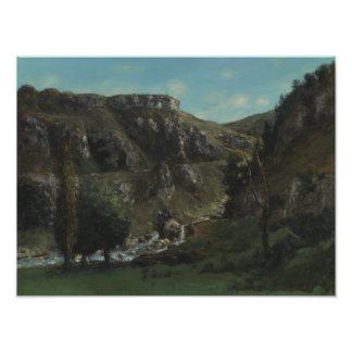 Gustave Courbet - vallée de Laloue Impression Photo