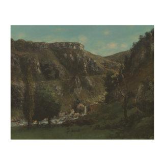Gustave Courbet - vallée de Laloue Impression Sur Bois
