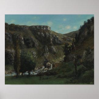 Gustave Courbet - vallée de Laloue Posters