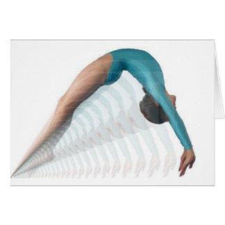 gymnaste carte de vœux