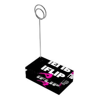 Gymnaste croulant porte-cartes de  table