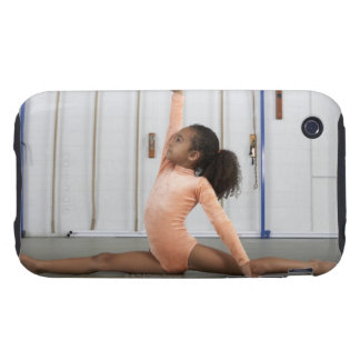 Gymnaste de jeune fille pratiquant son plancher coques iPhone 3 tough