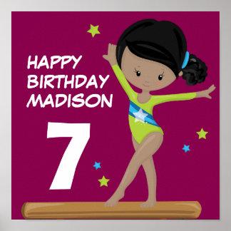 Gymnaste de joyeux anniversaire poster