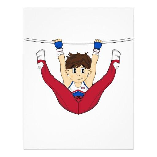 Gymnaste mignon sur l'insecte de barre tract customisé