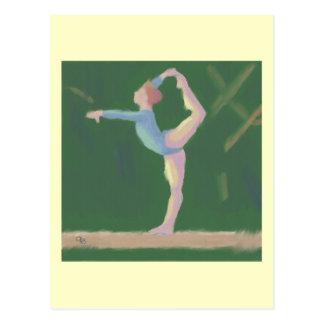 Gymnaste sur le faisceau d'équilibre, carte