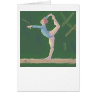 Gymnaste sur le faisceau d'équilibre, carte de
