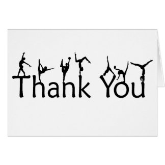Gymnastes sur le carte de remerciements de lettres