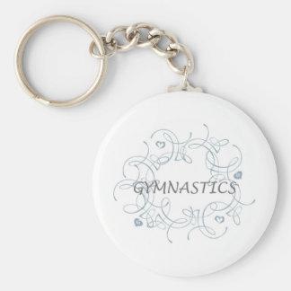 Gymnastique avec le remous porte-clé rond