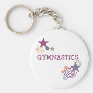 Gymnastique avec l'étoile tourbillonnante porte-clés