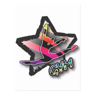 Gymnastique de zèbre d'arc-en-ciel carte postale