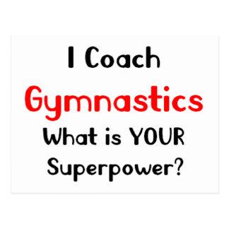 Gymnastique d'entraîneur carte postale