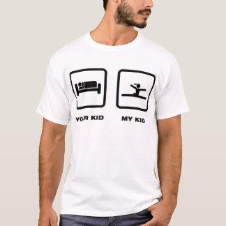 Gymnastique - exercice de plancher t-shirt
