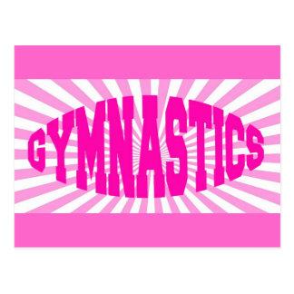 Gymnastique rose carte postale