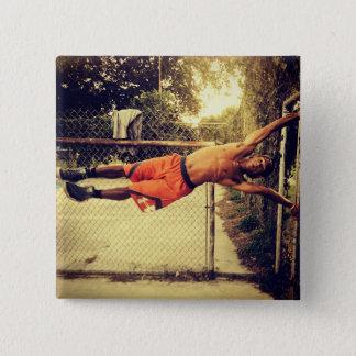 Gymnastique suédoise humaine de drapeau bouton de badge