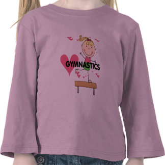 GYMNASTIQUE - T-shirts blonds de faisceau d'équili