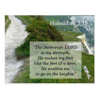 Habakkuk 3 carte de mémoire de 19 écritures