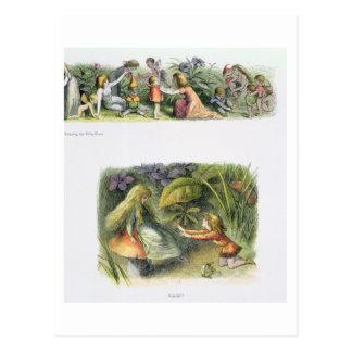 Habillage des elfes de bébé, et rejeté ! , carte postale