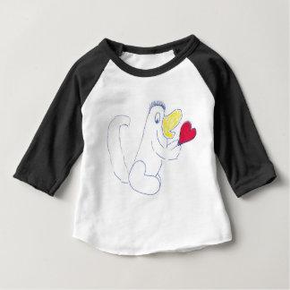 Habillement américain d'insecte d'amour 3/4 raglan t-shirt pour bébé