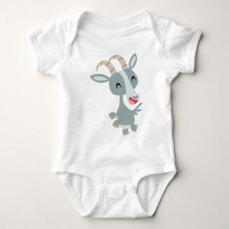 Habillement caracolant de bébé de chèvre de bande body