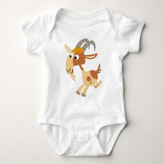 Habillement courant de bébé de chèvre de bande t-shirt