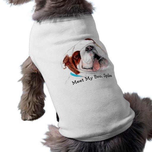 Habillement d'animal familier, bouledogue t-shirts pour animaux domestiques