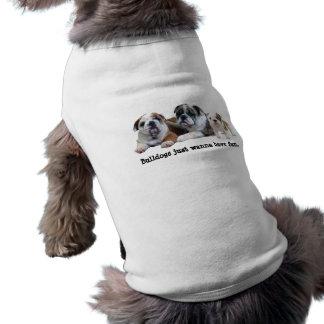 Habillement d'animal familier de trio de bouledogu vêtements pour animaux domestiques