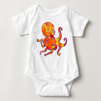 Habillement de bébé de poulpe de bande dessinée t-shirts