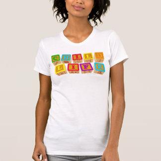 """Habillement de """"blocs"""" de la vie d'enfant t-shirt"""