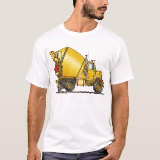 Habillement de camion de mélangeur concret t-shirt
