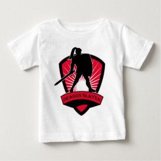 Habillement de chevalier de tueur de dragon t-shirt pour bébé