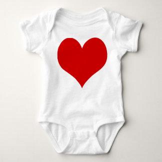 habillement de costume de bébé de coeur body